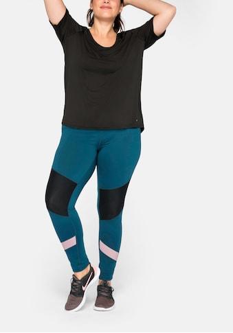 Sheego Leggings, mit Einsatz aus Mesh kaufen