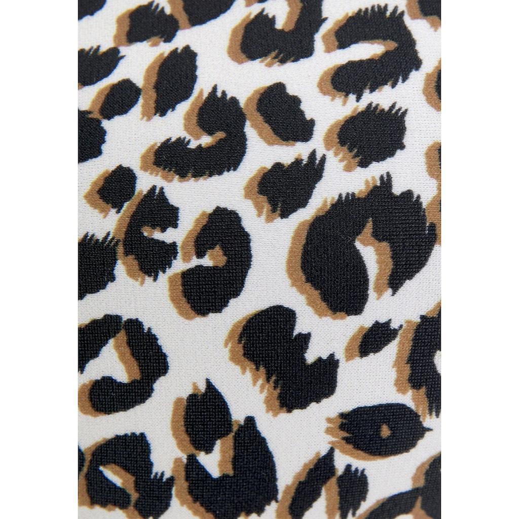 Buffalo Bügel-Bandeau-Bikini-Top »Kitty«, mit Animalprint und kontrastfarbenen Details