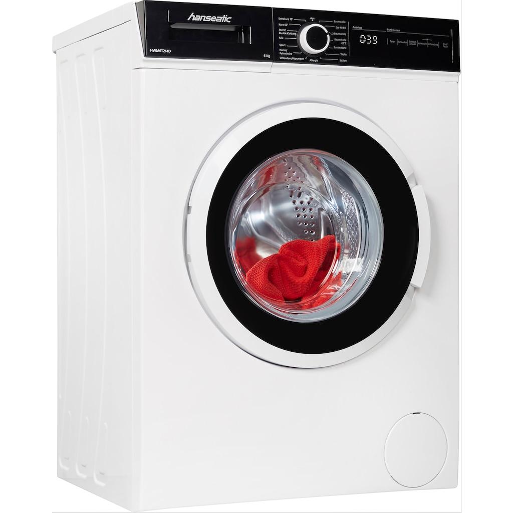Hanseatic Waschmaschine »HWM6T214D«, HWM6T214D, 6 kg, 1300 U/min