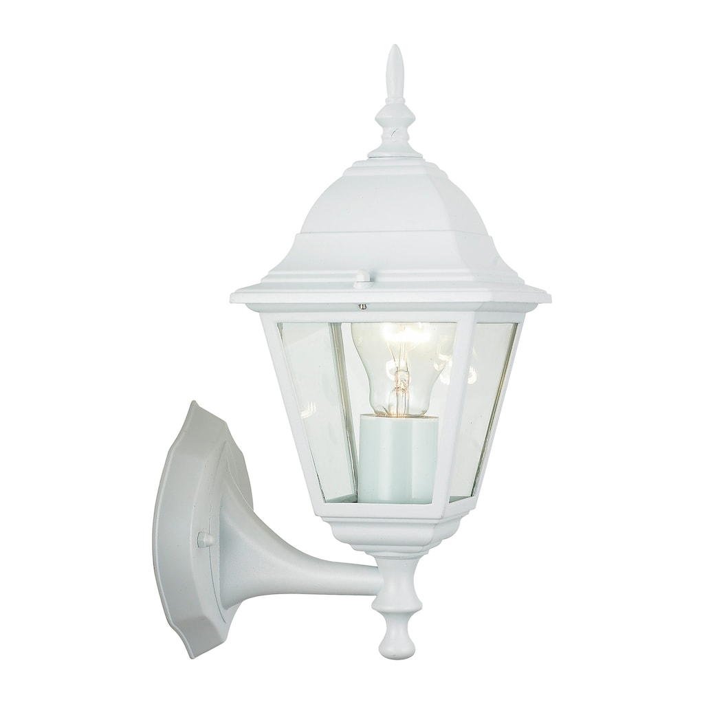 Brilliant Leuchten Newport Außenwandleuchte stehend weiß