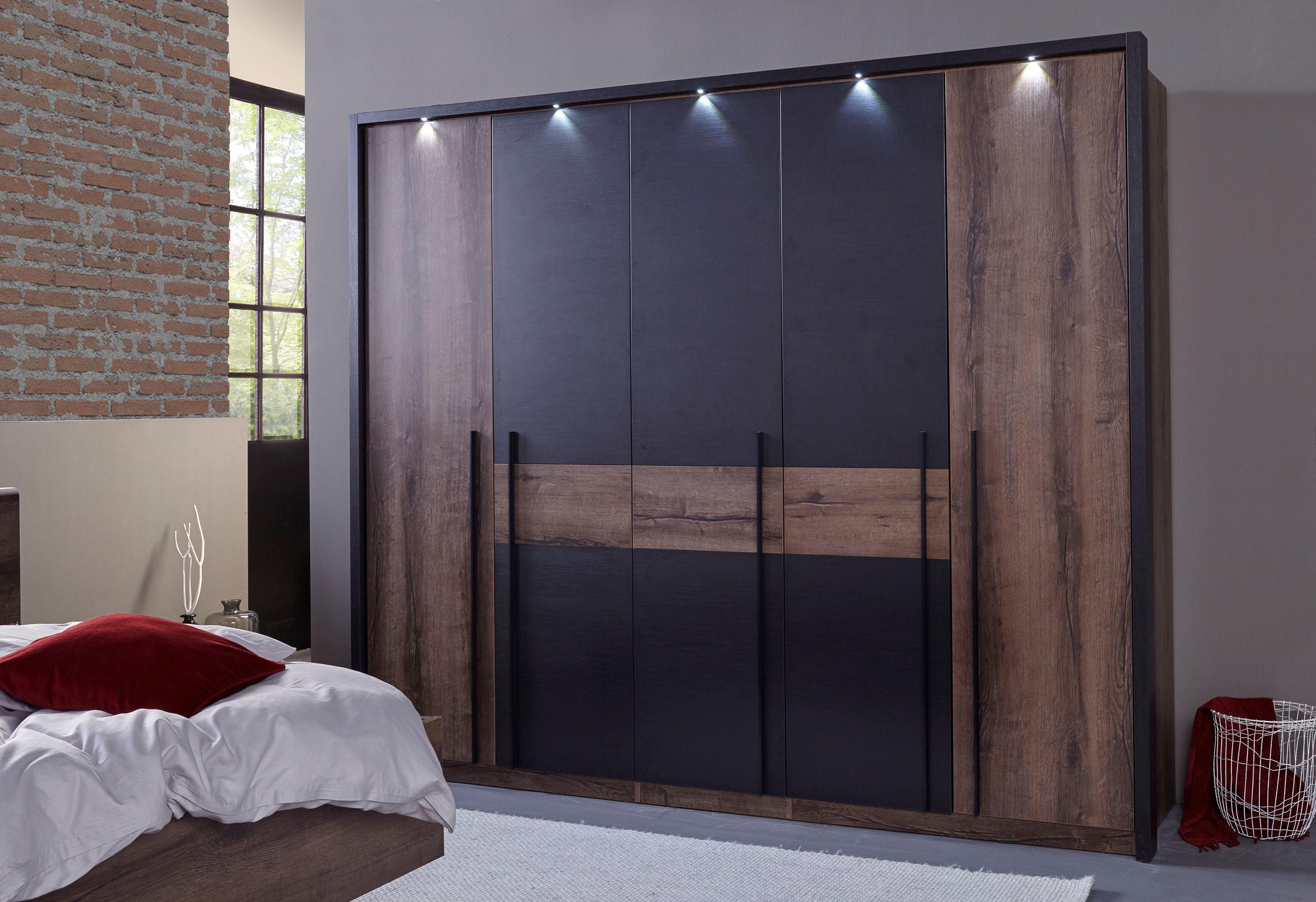 forte kleiderschrank bellevue mit led beleuchtung auf. Black Bedroom Furniture Sets. Home Design Ideas