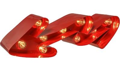MARQUEE LIGHTS LED Dekolicht »Geschwungener Pfeil«, 1 St., Warmweiß, Wandlampe, Tischlampe Curved Arrow mit 10 festverbauten LEDs - 38cm Breit und 12cm hoch kaufen