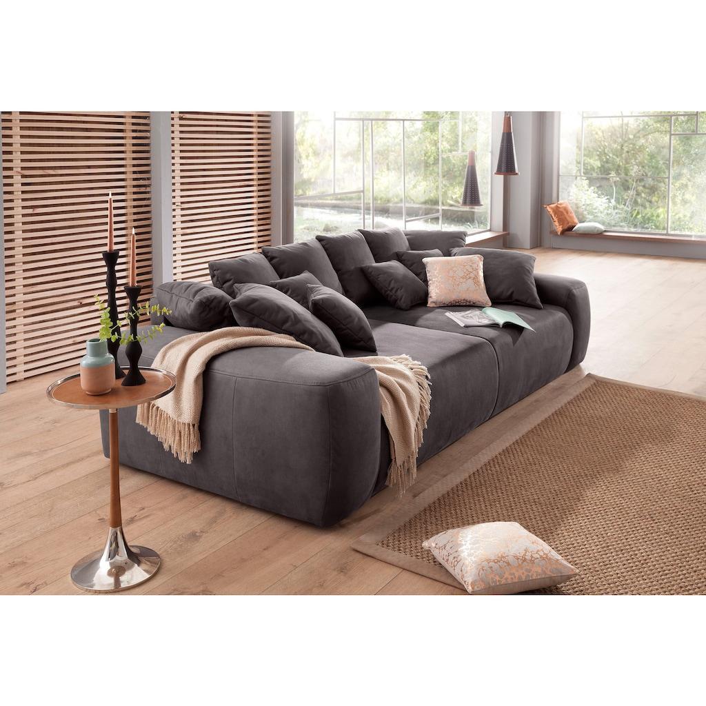 Home affaire Big-Sofa, Breite 302 cm, Lounge Sofa mit vielen losen Kissen