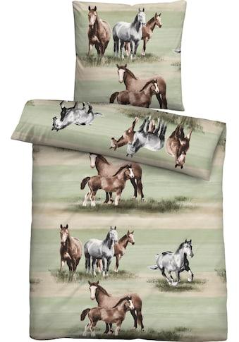 Biberna Jugendbettwäsche »Anastasia«, mit Pferden kaufen