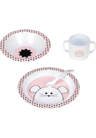LÄSSIG Kindergeschirr-Set »Little Chums, Mouse«, (Set, 4 tlg.) kaufen