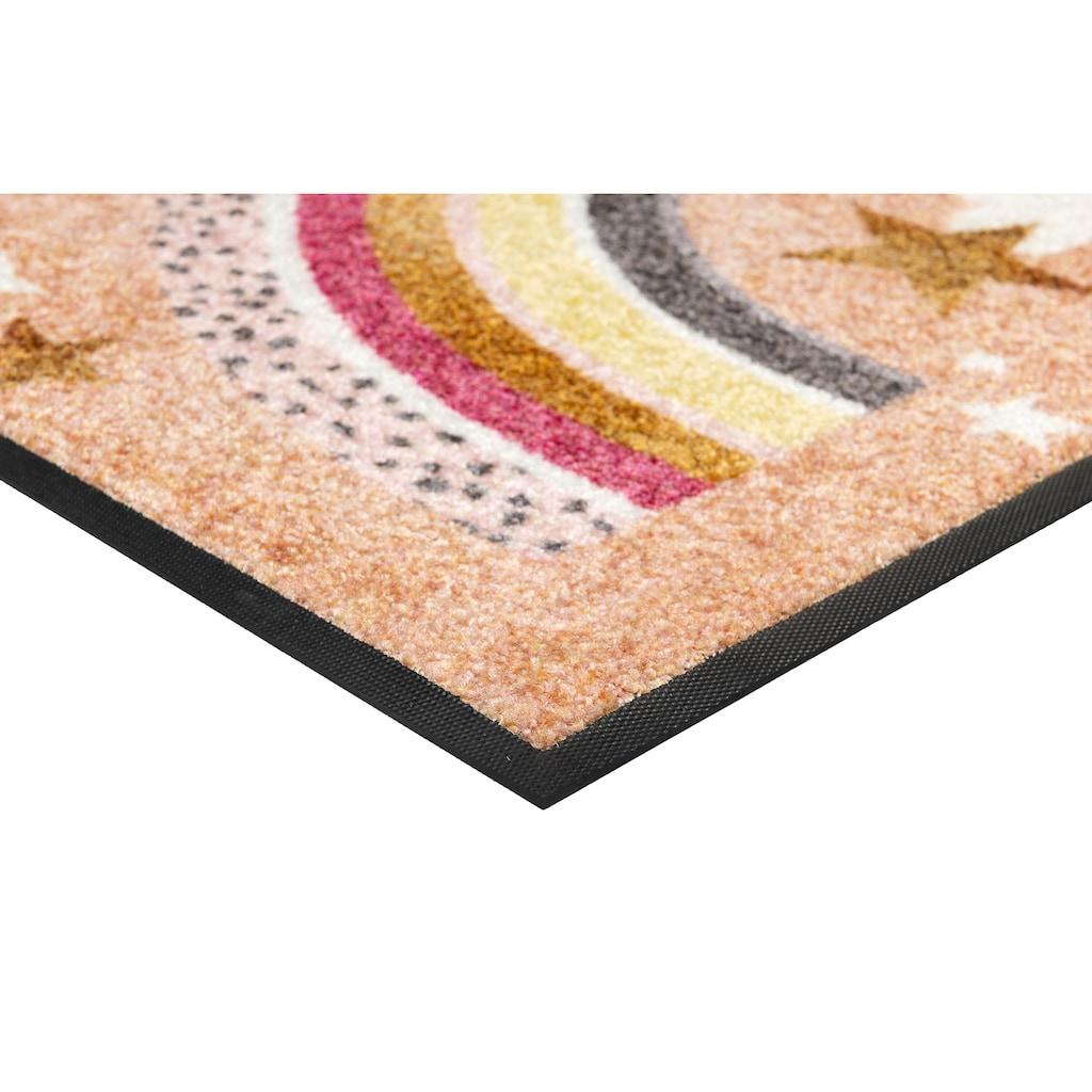 wash+dry by Kleen-Tex Fußmatte »Rainbow Glamour«, rechteckig, 7 mm Höhe, Schmutzfangmatte, In- und Outdoor geeignet, waschbar