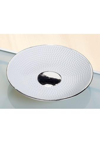 GILDE Dekoschale »Golfo«, aus Keramik, flach, rund, Ø 35,5 cm, Wohnzimmer kaufen