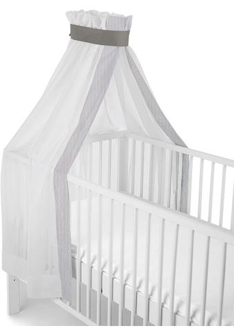 """Sterntaler® Betthimmel """"weiß - grau, für Kinderbett"""" kaufen"""