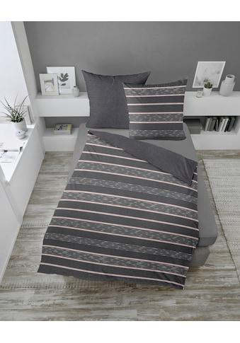 Wendebettwäsche »Melangestreifen«, Dormisette kaufen
