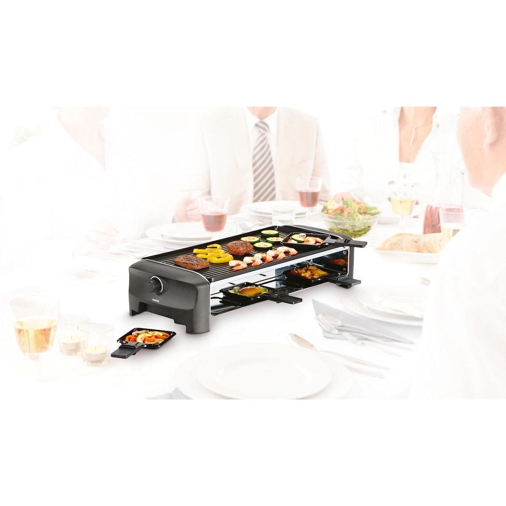 PRINCESS Raclette »8 Grill & Teppanyaki Party - 162840«, 8 St. Raclettepfännchen, 1300 W