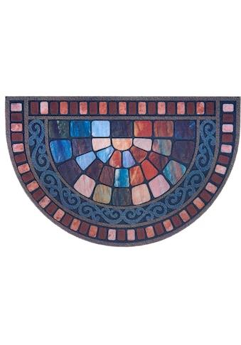 DELAVITA Fußmatte »Vitrage«, halbrund, 6 mm Höhe, Schmutzmatte, In- und Outdoor geeignet kaufen