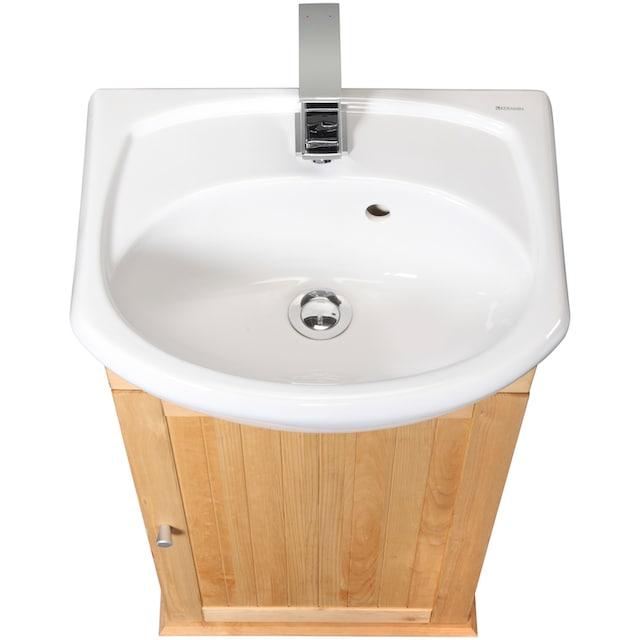 WELLTIME Waschtisch »Venezia«, Landhaus, Breite 45 cm, aus Massivholz