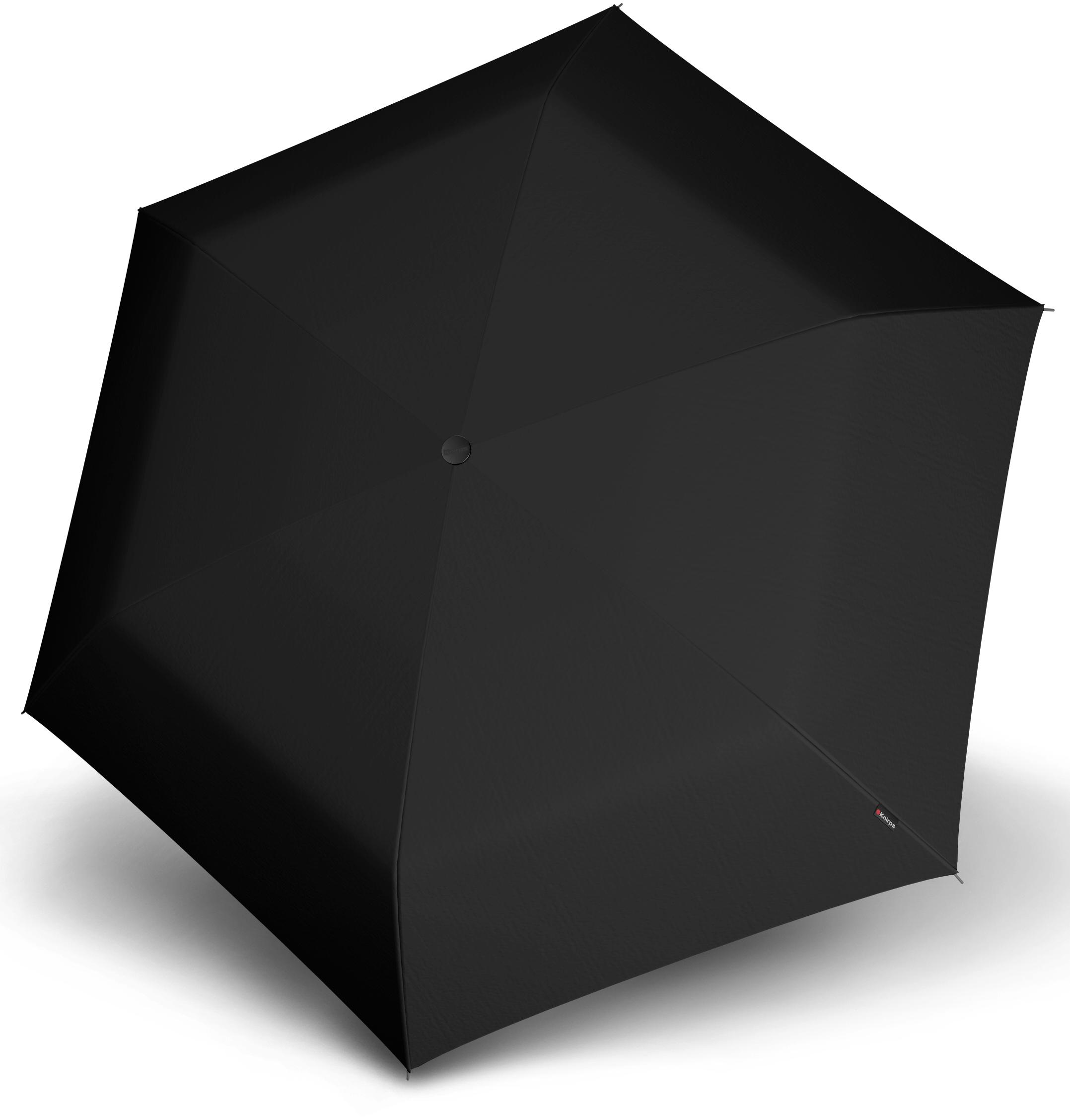 Knirps® Regenschirm - Taschenschirm, »TS.200 Slim Medium Duomatic black«   Accessoires > Regenschirme > Taschenschirme   Schwarz   Wo   KNIRPS