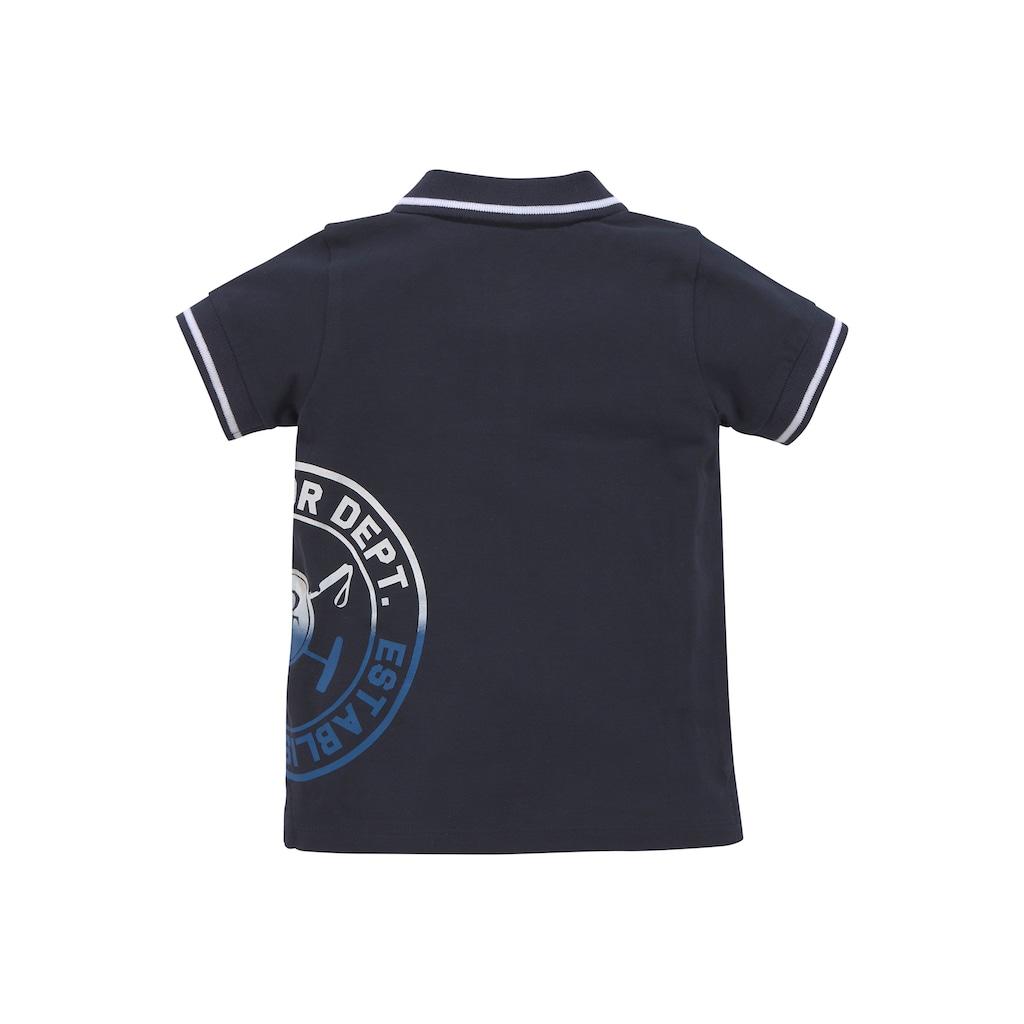 TOM TAILOR Polo Team Poloshirt »mit Streifen an den Bündchen«