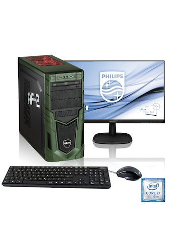 "Hyrican Gaming PC i7 - 9700F, RTX 2060, 16GB RAM + 68 cm (27"") TFT »Military Gaming SET1903« kaufen"
