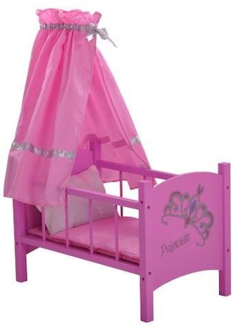 """Knorrtoys® Puppenbett """"diadem pink"""" kaufen"""