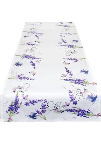 Delindo Lifestyle Tischläufer »Lavendel ZWEIGE«, (1 St.), Strukturgewebe, bedruckt kaufen