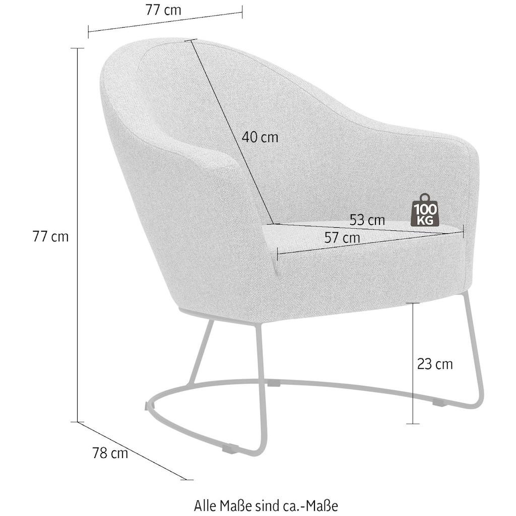 LOVI Loungesessel »Grape«, Metallrahmen schwarz, ergonomische Gestaltung mit hochwertigem Formschaum