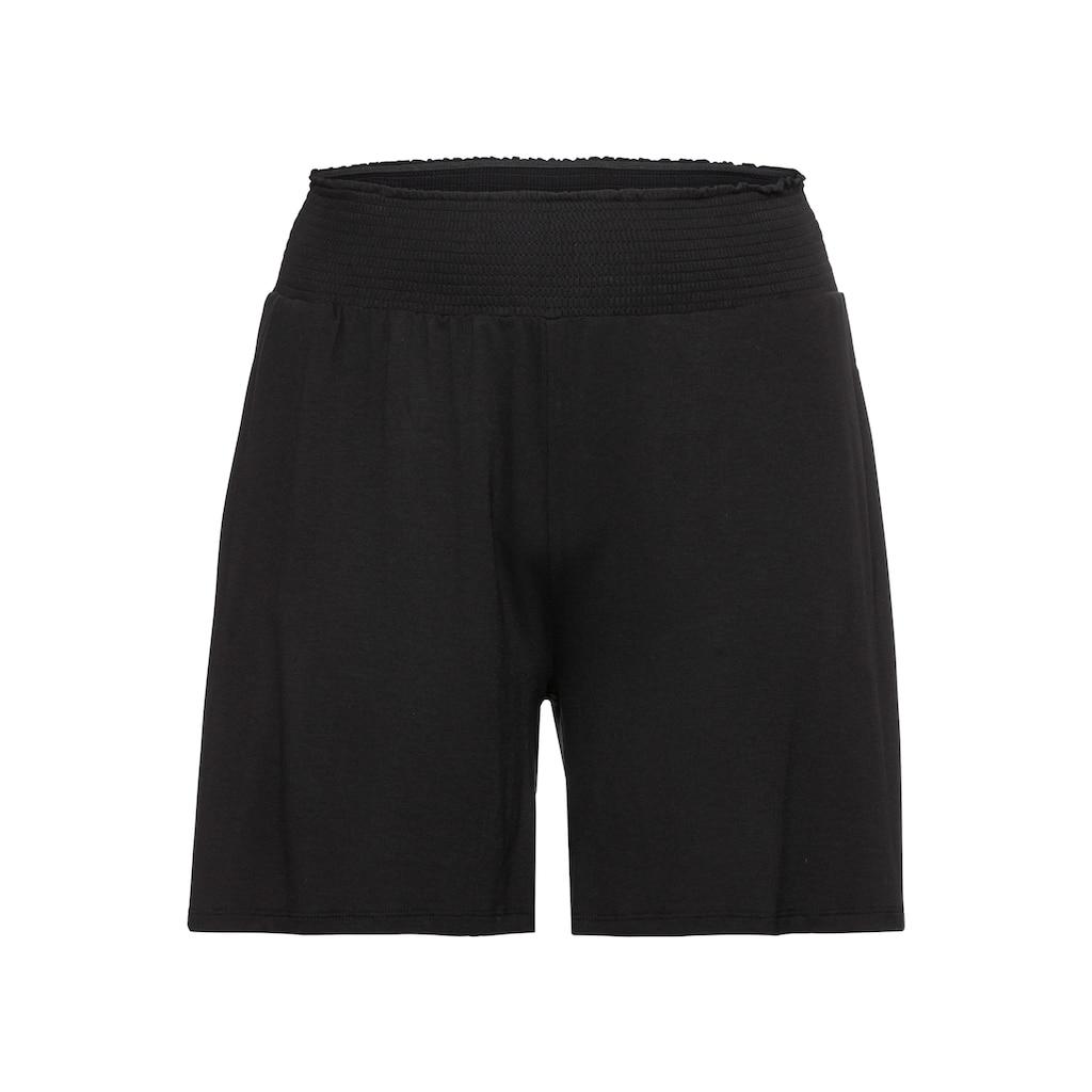Sheego Shorts, mit Smokbund und zwei Taschen