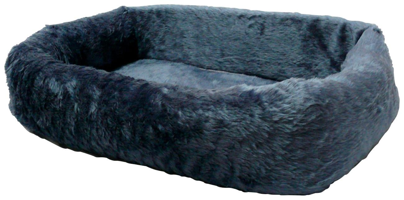 SILVIO DESIGN Hundebett und Katzenbett »de Luxe 75«, B/L/H: 75/45/17 cm, blau | Garten > Tiermöbel > Hundekörbe-Hundebetten | Blau | SILVIO DESIGN
