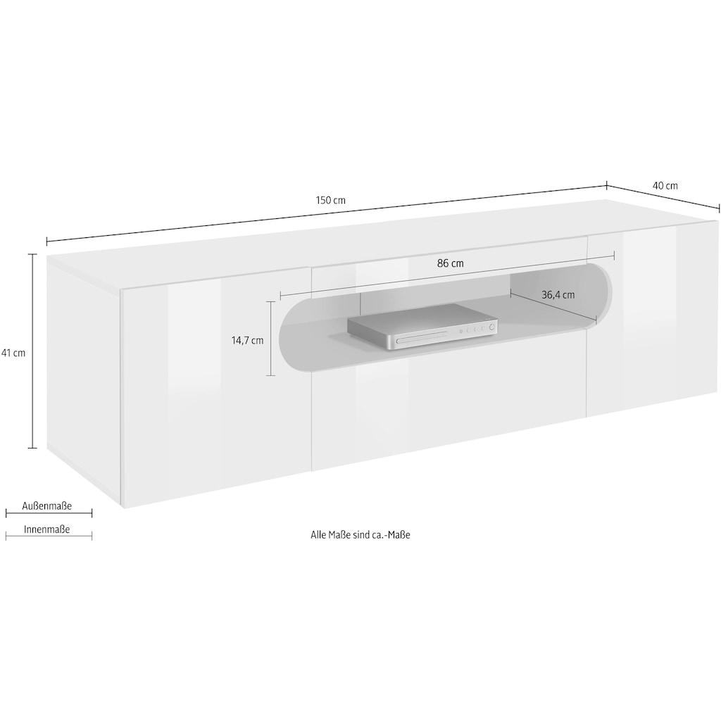 Tecnos Lowboard »Real«, Breite 150 cm
