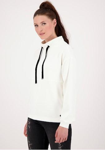 Monari Sweatshirt, - Stehkragen mit Samtbändern kaufen