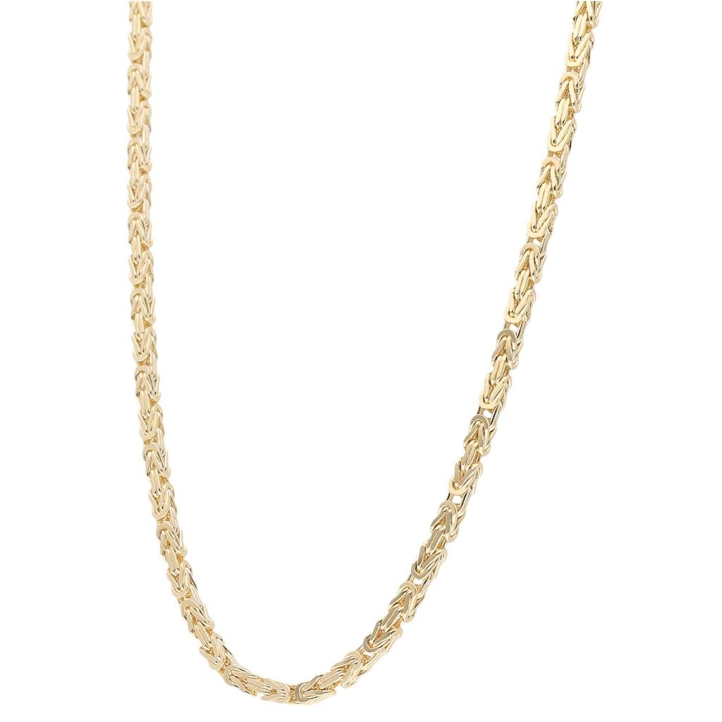 Firetti Goldkette »Königskettengliederung, 2,5 mm breit, diamantiert, massiv«