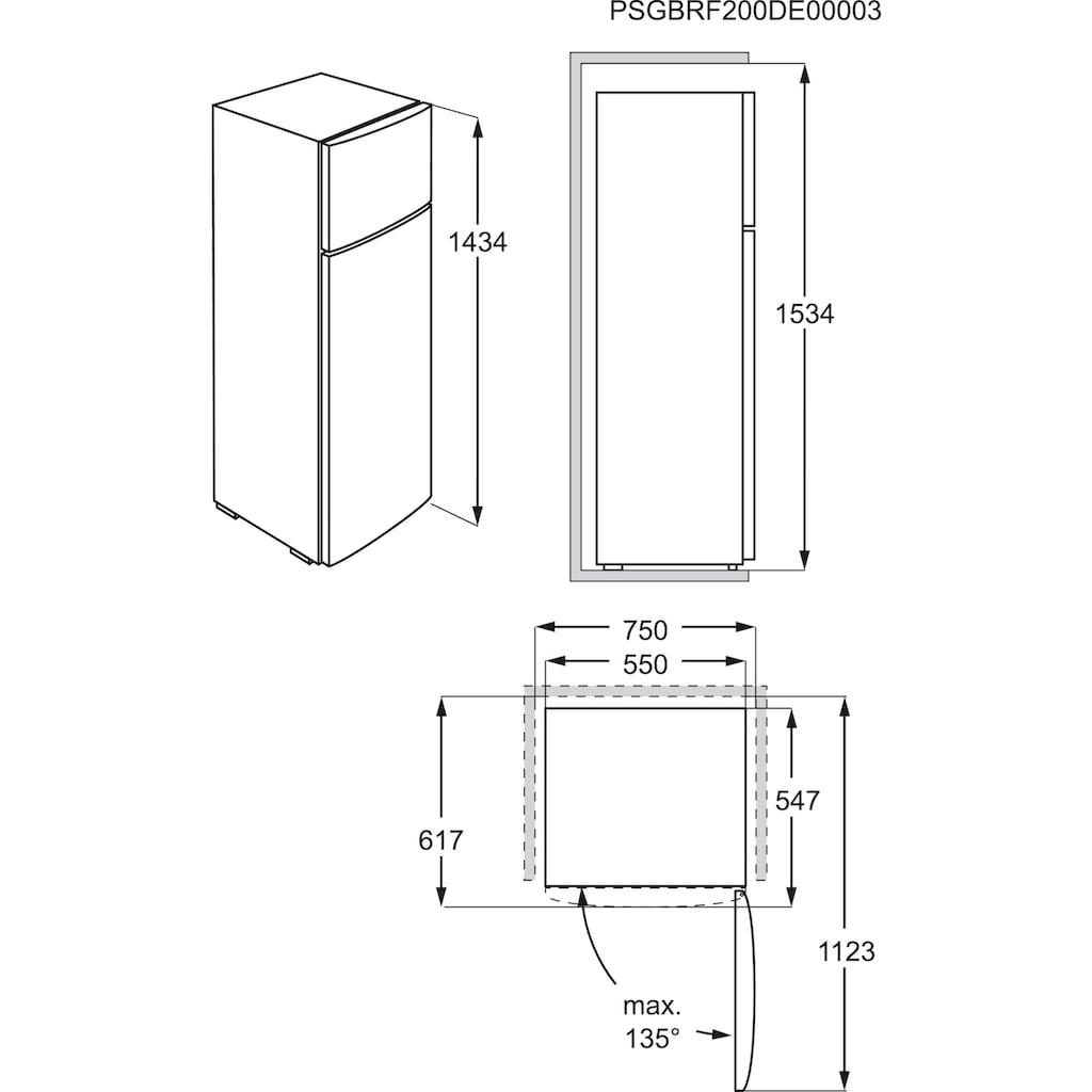AEG Kühl-/Gefrierkombination, RDB424E1AW, 143,4 cm hoch, 55 cm breit