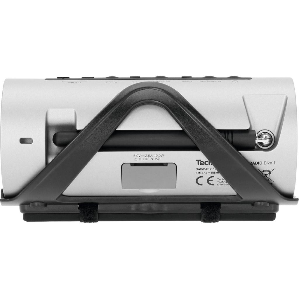 TechniSat Digitalradio (DAB+) »DIGITRADIO Bike 1«, (A2DP Bluetooth-Bluetooth-AVRCP Bluetooth Digitalradio (DAB+) 5 W), Integrierter Akku, Bluetooth, OLED-Display