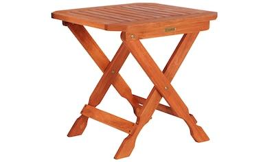 MERXX Beistelltisch »Havanna«, Eukalyptusholz, klappbar, 50x50 cm kaufen