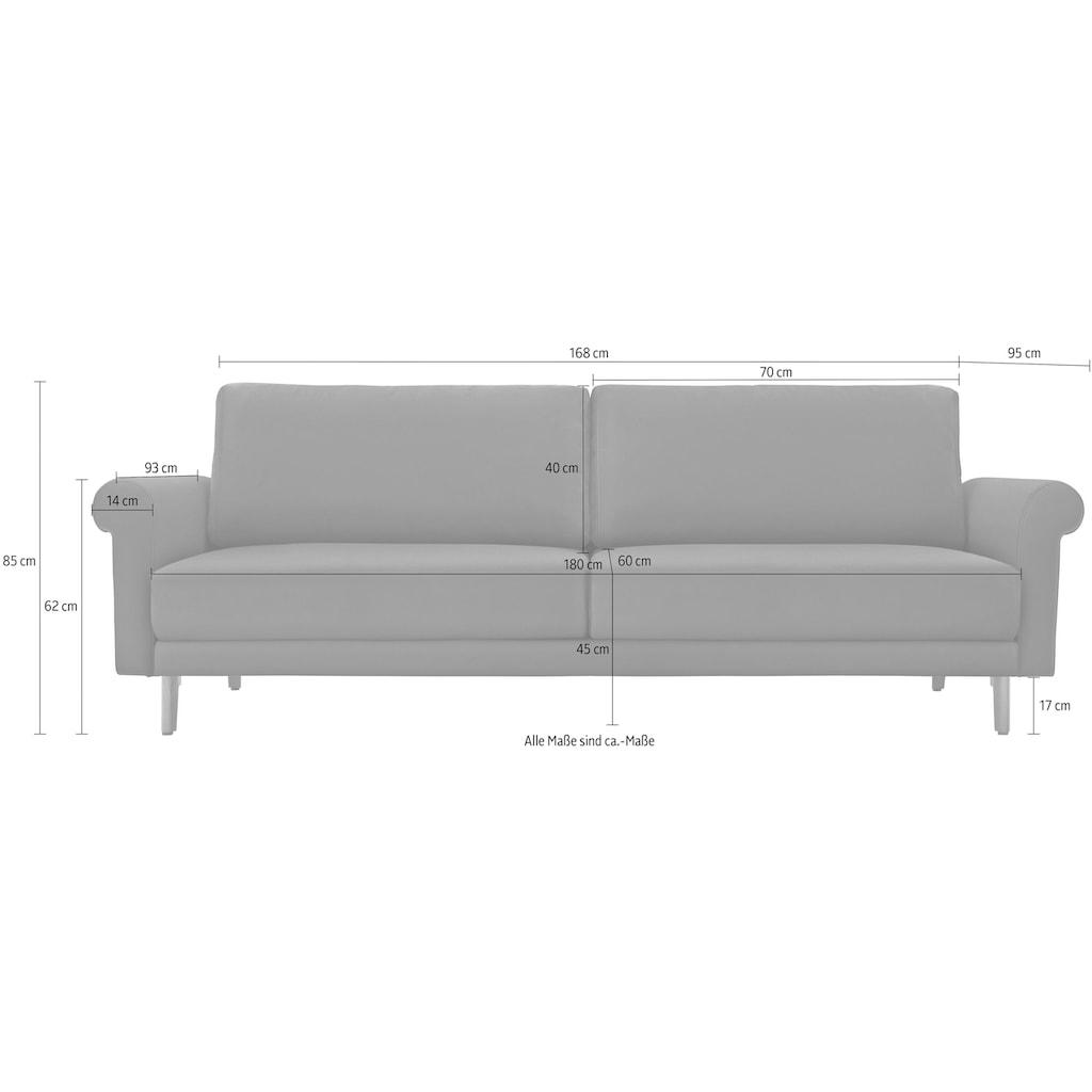 hülsta sofa 2-Sitzer »hs.450«, wahlweise in Stoff oder Leder, im modernen Landhausstil