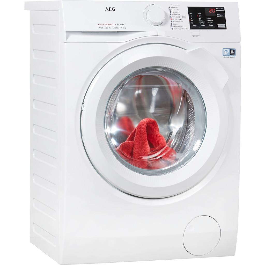 AEG Waschmaschine »L6FB48FL«, L6FB48FL, 8 kg, 1400 U/min, ProSense - Mengenautomatik