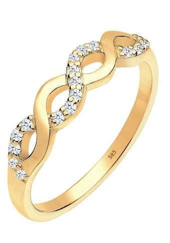 Diamore Diamantring »Infinity - Unendlichkeitsschleife, 0604640414«, mit Diamanten kaufen
