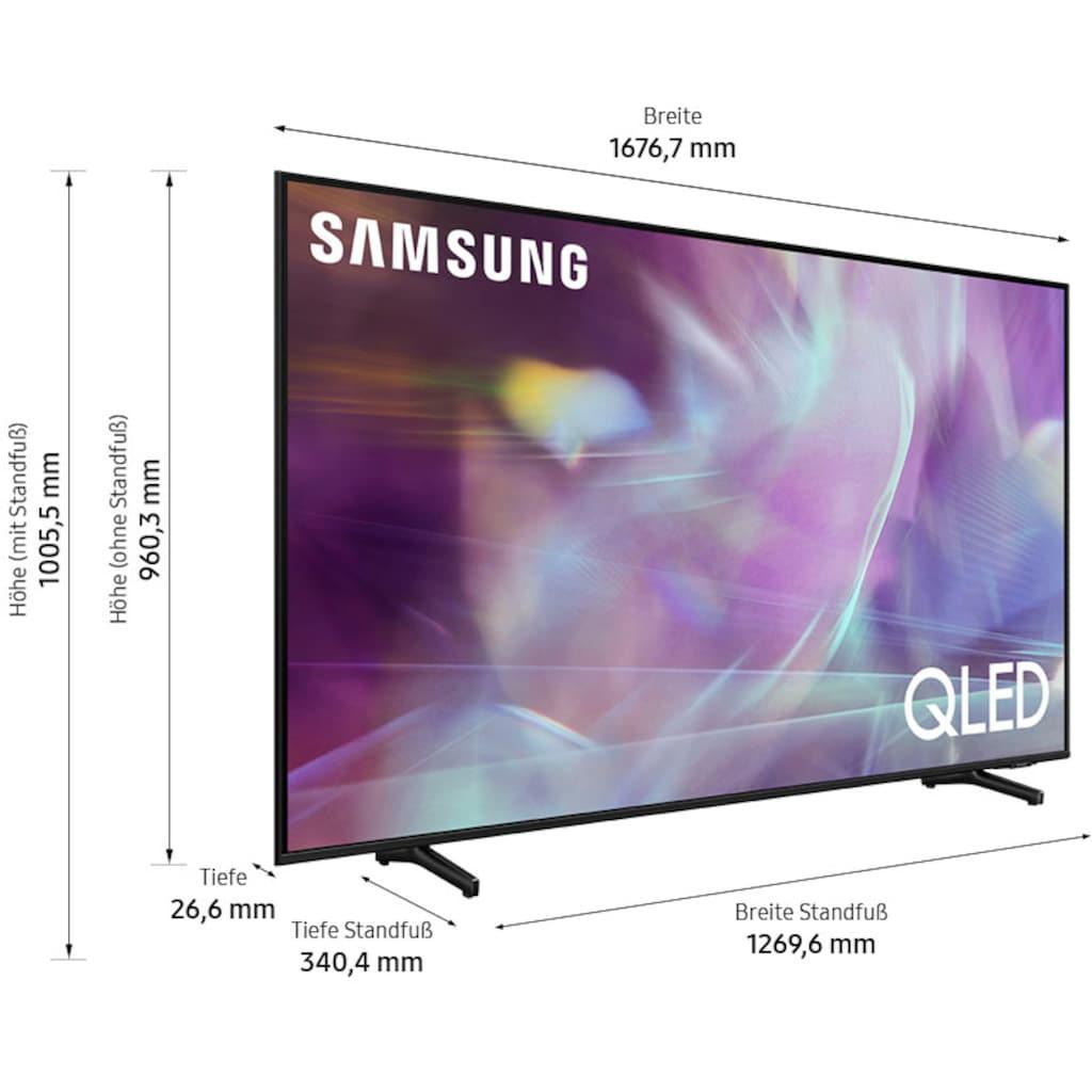 "Samsung QLED-Fernseher »GQ75Q60AAU«, 189 cm/75 "", 4K Ultra HD, Smart-TV"