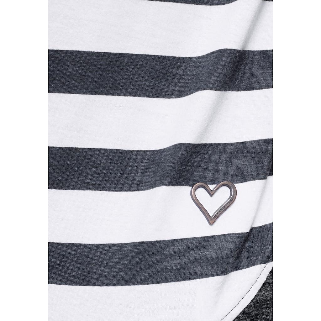 Alife & Kickin T-Shirt »CoraAK S«, modisches Kurzarm-Shirt mit Streifen