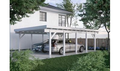 Kiehn-Holz Doppelcarport »KH 330 / KH 331«, Holz, 561 cm, weiß, Stahl-Dach, versch. Farben kaufen