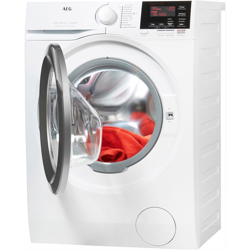 AEG Waschmaschine »L6FBA48«, 6000, L6FBA48, ProSense - Mengenautomatik