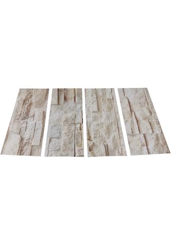 MySpotti Duscheinlage »Klebefliese stepon Bruchsteinwand«, antirutsch kaufen