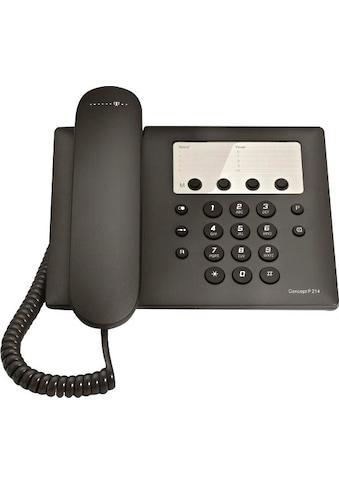 Telekom Kabelgebundenes Telefon »Concept P 214«, ( ) kaufen