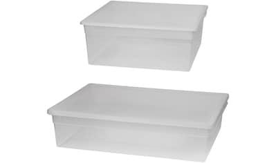 KREHER Aufbewahrungsbox »1x 23 Liter, 1x 36 Liter, mit Deckel« 2er Set kaufen