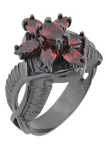 Der Herr der Ringe Fingerring »Dark Years Collection Arwens Abendstern  -  schwarz rot, 20002139« kaufen