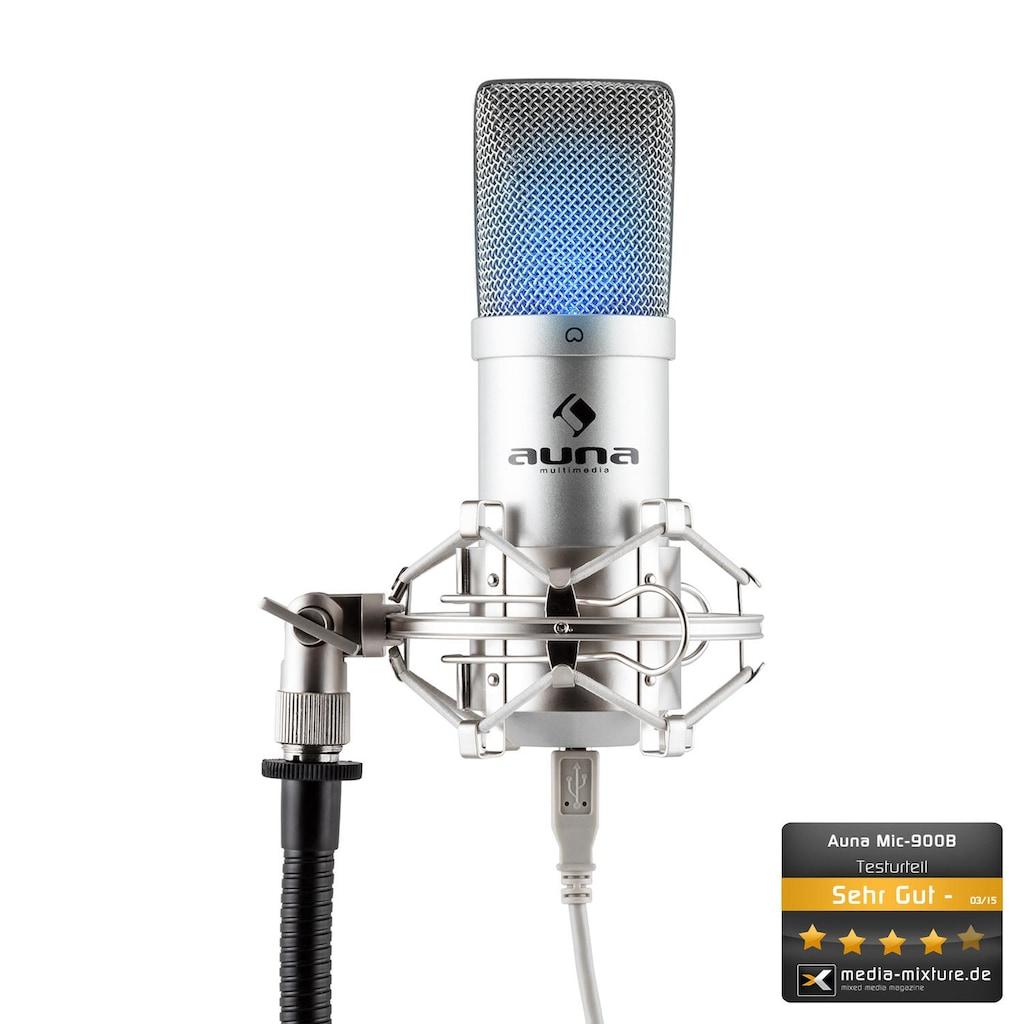 Auna USB Kondensator Mikrofon inkl. Mikrofonspinne Niere Studio