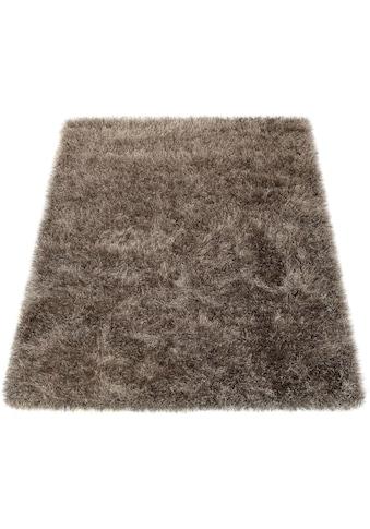Paco Home Hochflor-Teppich »Glamour 300«, rechteckig, 70 mm Höhe, Uni Farben, mit... kaufen