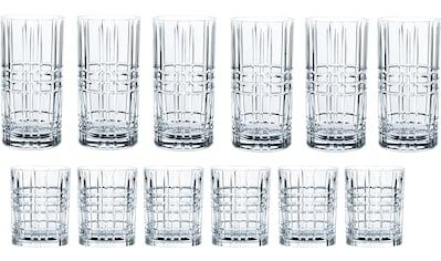 Nachtmann Gläser-Set »Highland«, (Set, 12 tlg.), mit markantem Schliff, 12-teilig kaufen