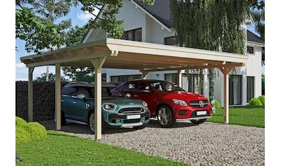 Skanholz Doppelcarport »Emsland«, Holz, 550 cm, natur, versch. Farben kaufen