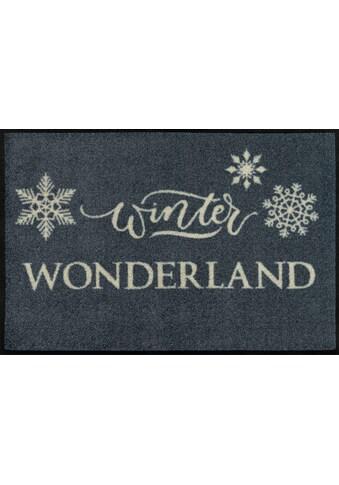 wash+dry by Kleen-Tex Fußmatte »Winter Wonderland«, rechteckig, 7 mm Höhe,... kaufen