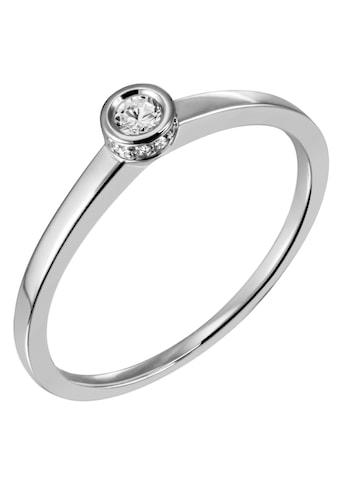 Firetti Diamantring »Solitär, ca. 1,43 mm breit, glänzend, rhodiniert, massiv«, mit Brillanten kaufen