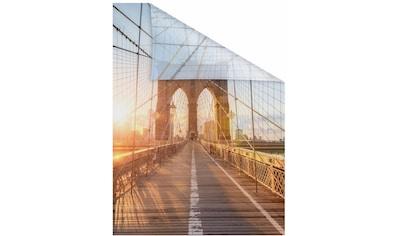 Fensterfolie, »Brooklyn Bridge«, LICHTBLICK, blickdicht, strukturiert kaufen