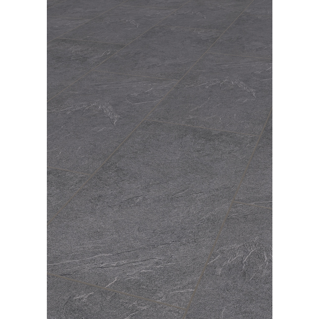 TER HÜRNE Laminat »Stein anthrazitgrau«, mit fühlbarer Oberfläche und Klicksystem
