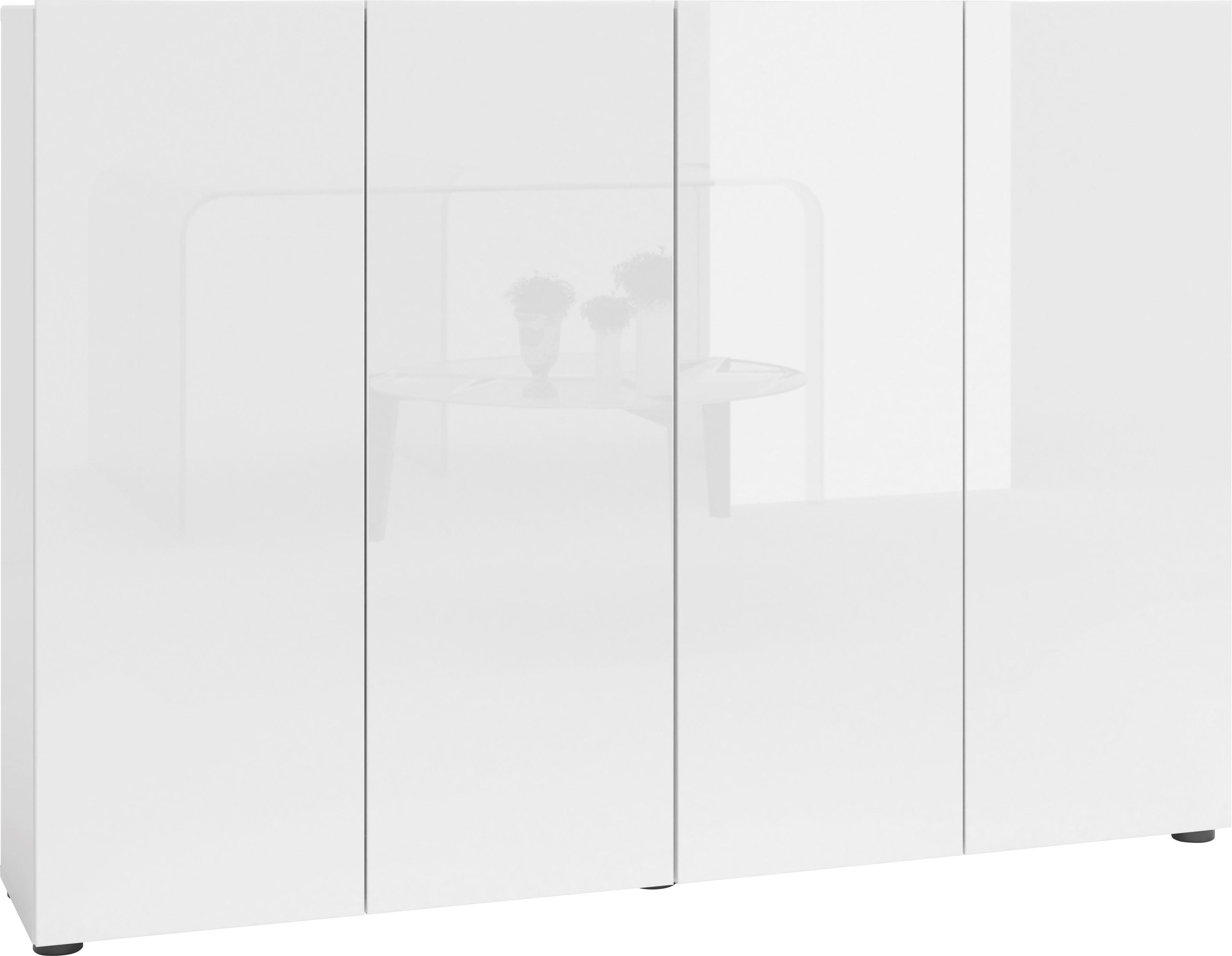 KITALY Schuhschrank »Mister«, Breite 160 cm, 4 Türen, Hochglanz Lackierung günstig online kaufen